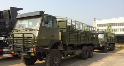 Our old client from Niger imported 40 units Shacman 6x6 full drive cargo trucks in year 2013
