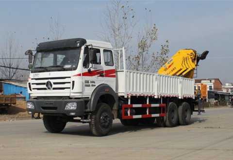 North Benz (Beiben) NG80B 6X4 Truck Mounted 16000 kg Knuckle Boom Fold Arm Crane
