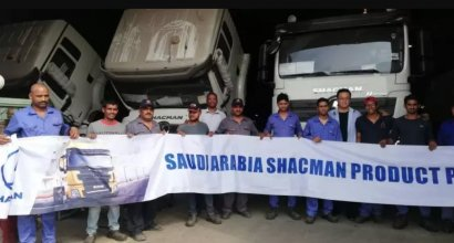 The First 20 SHACMAN H3000 Vehicles Rolled Off the Line In Saudi Arabia