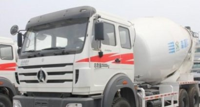 Beiben heavy truck lightweight concrete mixer truck delivered to the customer
